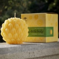 Beeswax Sphere Candle: Artichoke