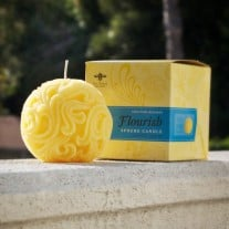 Beeswax Sphere Candle: Flourish