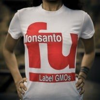 Hand-Screened Organic FU Monsanto T-shirt