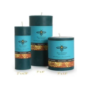 Beeswax Aromatherapy Pillars: Lavender Peppermint (3×3.5)