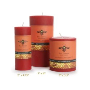 Beeswax Aromatherapy Pillars: Sweet Orange Clove Bud (3×3.5)