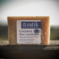 Coconut & Blue Cornflower Soap with Manuka Honey
