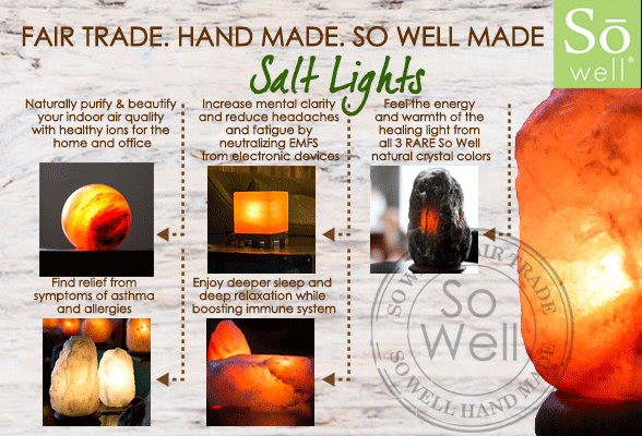 So Well Fair Trade Salt Lamps