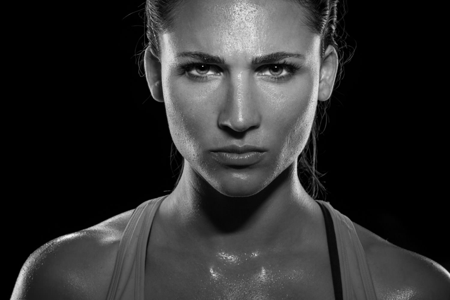 Intense stare eyes determined athlete champion glare head shot s